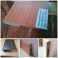 Skirting Laminate Flooring China Ck Mdf Wood Skirting Basrboard Wrapped Pvc Foil For Wooden