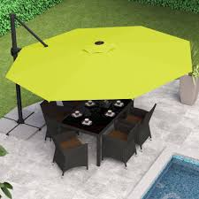 Patio Umbrellas Ebay by Corliving Deluxe Offset Patio Umbrella Multiple Colors Walmart Com