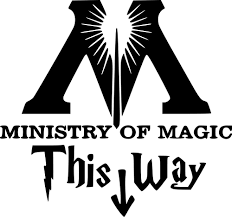 harry potter decal sticker this way in to the ministry of magic