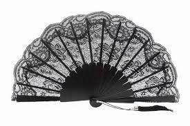 black lace fan black lace fan for ceremony ref 1311