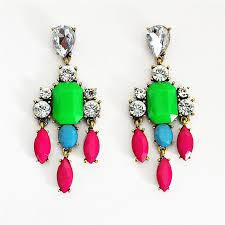 Big Chandelier Earrings Color Mix Drop Earrings Crystal Chandelier Earrings With Pink