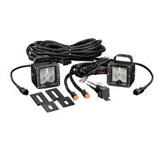 jeep kc lights kc hilites 0355 under hood lighting kit led cyclone 2 piece white