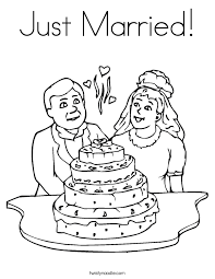 wedding coloring pages twisty noodle