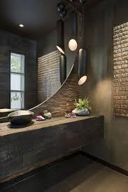 modern guest bathroom ideas bathroom calming guest bathroom with rustic vanity and sandstone