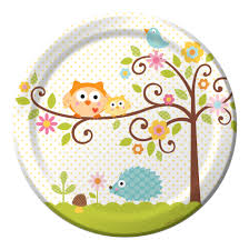 owl themed 1st birthday party owl baby shower plates these