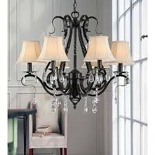 Crystal And Black Chandelier Chic Iron And Crystal Chandelier Iron And Crystal 3 Light