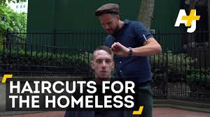 free haircuts for the homeless youtube