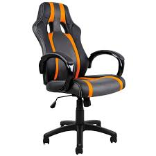 fauteuil bureau baquet chaise bureau sport fauteuil noir gris orange achat vente chaise