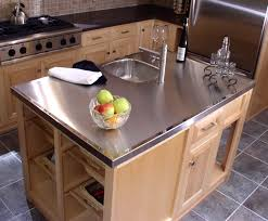 stainless steel countertop with built in sink stainless steel countertop diy countertops cost counter with