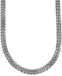 curb chain necklace mens images Esquire men 39 s jewelry wide link 5 1 4mm curb chain in sterling tif