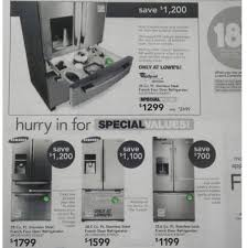 refrigerators home depot black friday kitchen great incredible lowes samsung refrigerator intended for