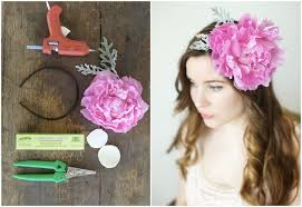 how to make a peony headband a floral diy tutorial real flowers