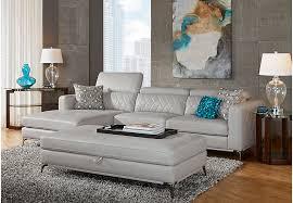 sofia vergara sorrento platinum 3 pc sectional living room