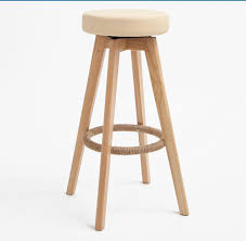 Wooden Swivel Bar Stool Wooden Swivel Bar Stools Modern Finish Leather Foam