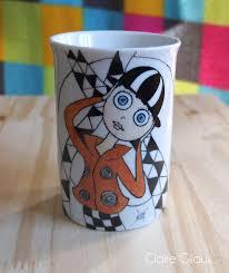 porcelaine peinte main mugs en porcelaine peints à la main les meubles et objets peints