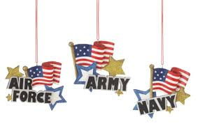 branch air force army navy american flag christmas ornaments