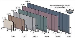 Portable Room Divider Screenflex Commercial Edition Seven Panel Portable Room Divider