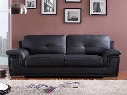 assise canapé canapé en cuir avec assise et dossier rembourrés augusto