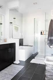 One Room Bathroom With Dark Tiles Caruba Info