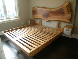 Custom Platform Bed Custom Platform Bed With Through Sawn Headboard