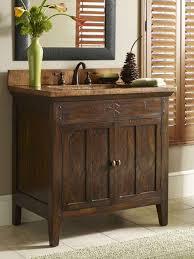 Rustic Bathroom Vanity by Brown Varnished Teak Wood Base Vanity Cabin Rustic Bathroom