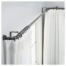 hugad curtain rod combination bay window silver colour ikea