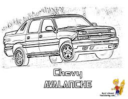 dodge truck coloring pages chevy avalanche truck coloring page you can print out this