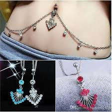 chain belly rings images 2018 sexy belly button ring with diamond waist chain belly dance jpg