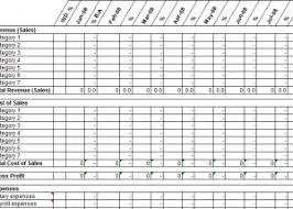 12 Month Profit And Loss Projection Excel Template Excel Forecasting Templates Excel Sales Forecast Template