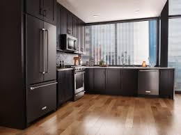 kitchen ideas with black appliances black stainless appliances edgewood cabinetry