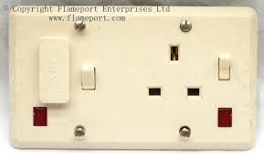 aei combined fused switch and single socket outlet