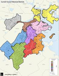 Map Of Boston by List Of Members Of Boston City Council Wikipedia