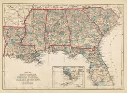 Map Of Louisiana by Map Of South Carolina Georgia Florida Alabama Mississippi And