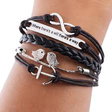 wrap bracelet with charms images 2014 antique bronze plated alloy arrow eiffel tower rudder love jpg