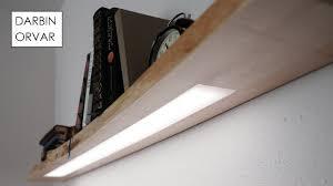shelf with lights underneath floating shelf w hidden led lighting youtube