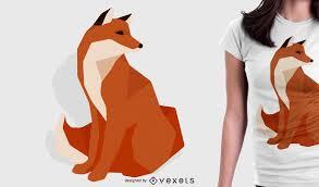 tshirt design polygonal fox tshirt design vector