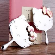 Portable Vanity Table Hello Kitty Pocket Mirror Makeup Hand Vanity Table Compact Mirror