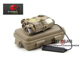 tactical light and laser element la peq15 tactical flashlight laser combo red laser ir