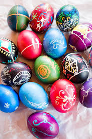wax easter egg decorating painted ukrainian easter eggs decorated with folk designs