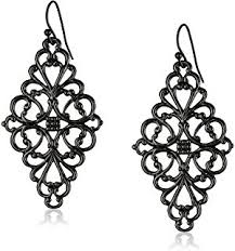 black chandelier earrings 1928 jewelry jet and black chandelier earrings
