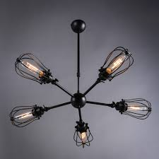Country Style Pendant Lights Black Iron Chandelier Lustre Abajur American Country Style