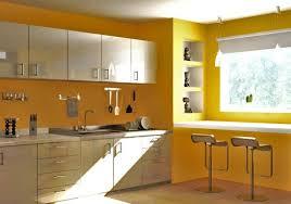 peinture pour cuisine moderne peinture cuisine jaune audacieux armoires blanc cassé jpg 750 526