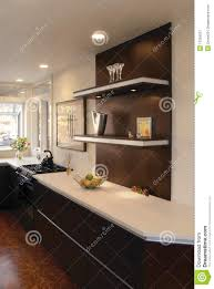 Floating Shelves Kitchen by Kitchen With Floating Shelves Royalty Free Stock Photography