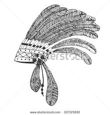 royalty free vector illustration of merican indian u2026 494411062