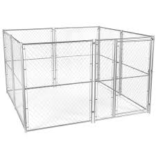 cl l home depot lucky dog 6 ft h x 10 ft w x 10 ft l modular chain link kennel