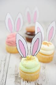 easter desserts cute and easy bunny ear cupcakes pink