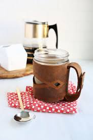leather mason jar sleeve u2013 a beautiful mess