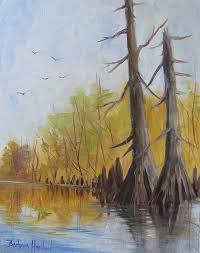 ken s cypress trees by barbara haviland from bayou paintings and