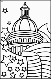whitehouse white house on 4th july coloring pages to print