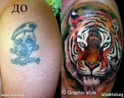 colored ink tiger on shoulder cool tattoos